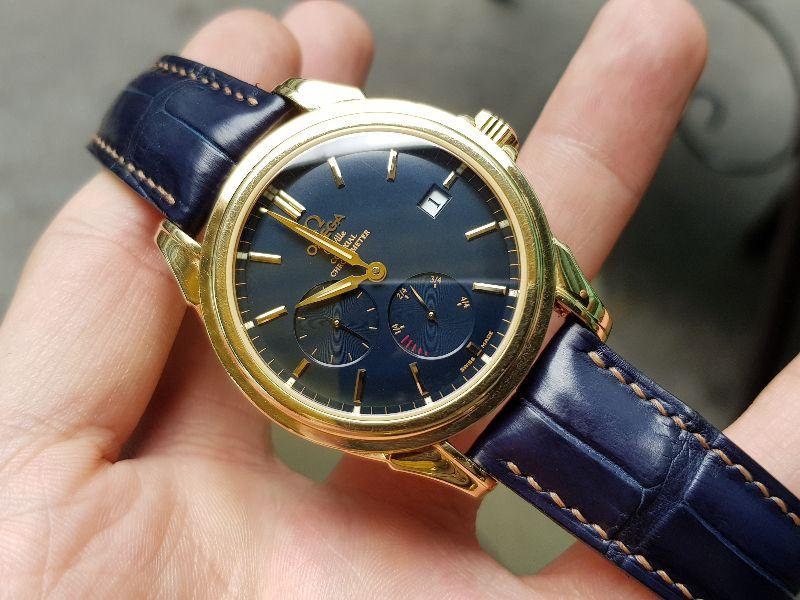 Đồng hồ Omega Deville Coaxial Chronometer 18K Gold Power Reserve-12