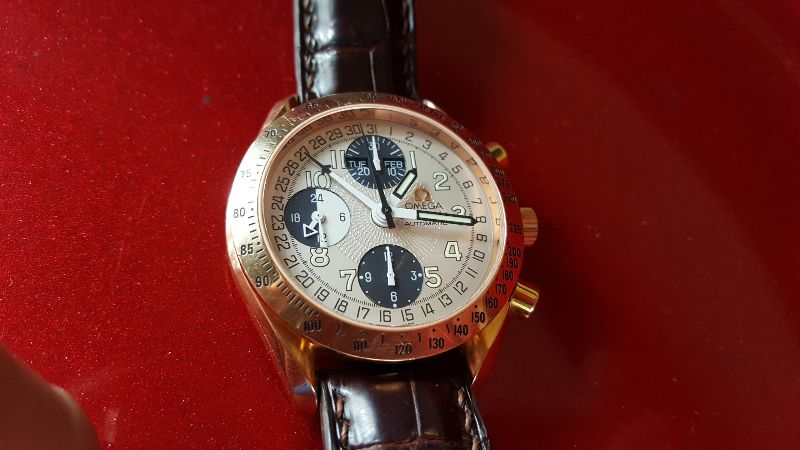 OMEGA Speedmaster Day Date 18k rose gold Automatic Chronograph4