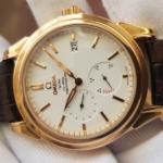 Omega Deville Coaxial Chronometer 18K Rose Gold Power Reserve full box,like new-1
