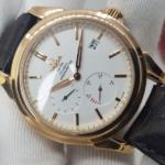 Omega Deville Coaxial Chronometer 18K Rose Gold Power Reserve full box,like new-8