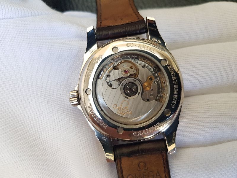 Omega Deville Coaxial Chronometer 18K white Gold Limited 699c -8