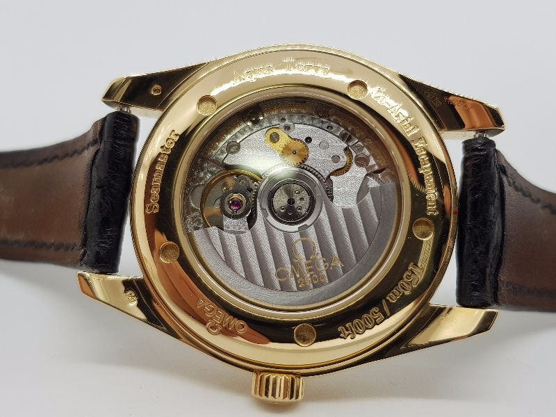 Omega SeaMaster Aquaterra Co-Axial 18k Gold9