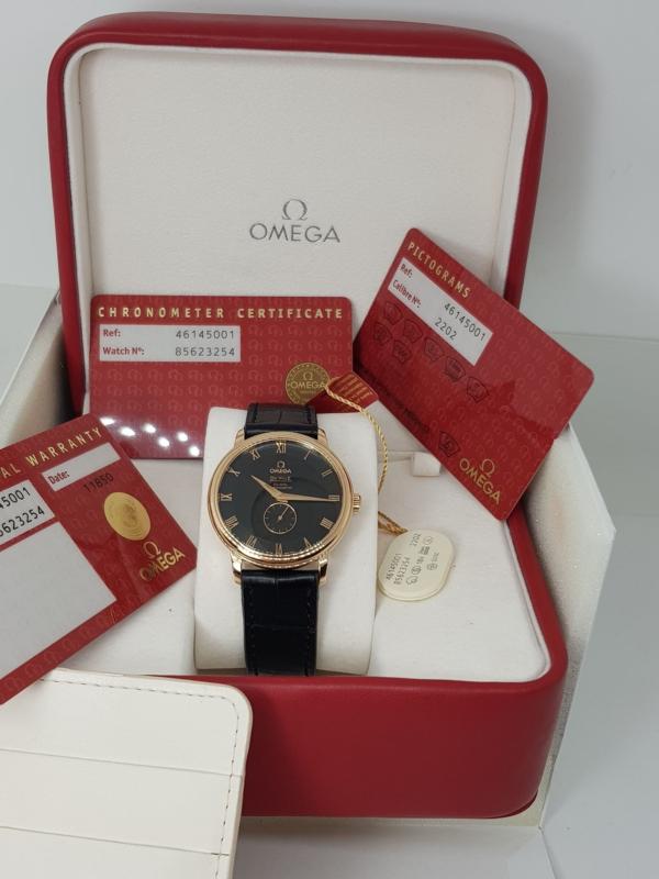 Omega Deville Prestige-coaxia l 18k rose gold size 39mm-8