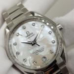 OMEGA 8500 Xà cừ trắng cọc kim cương-3