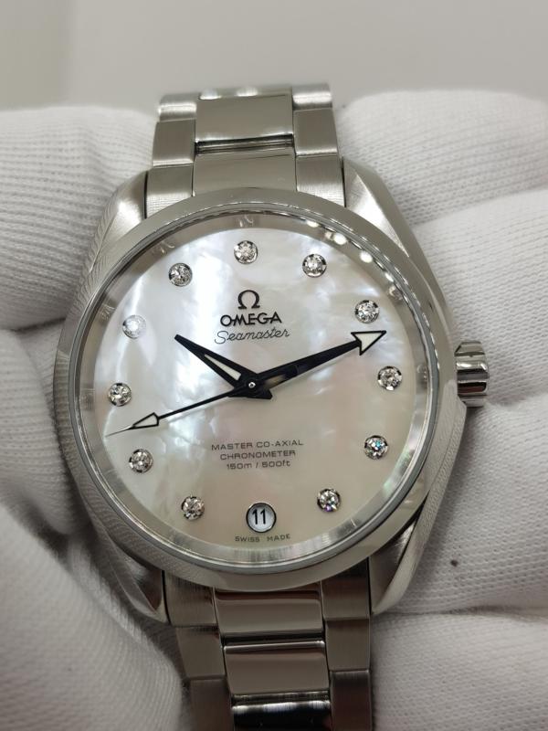OMEGA 8500 Xà cừ trắng cọc kim cương-6